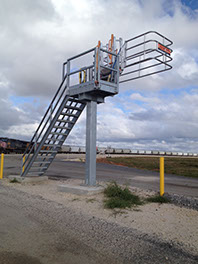 Image of Safe Rack used for driver safety in transload facilities