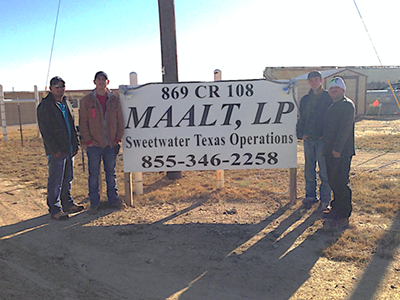 Maalt LP Transload and Storage Facility in Sweetwater Texas